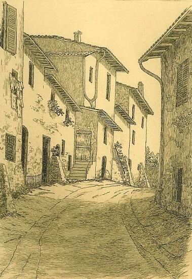 Maurice Bebb, ASSISI HOUSES Print