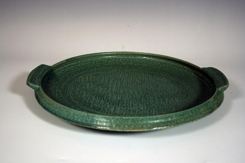 Birthe Flexner, GREEN PLATTER Ceramic