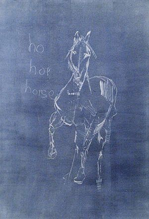N. Scott Momaday, PRELIMINARY HORSE NEGATIVE Monotype