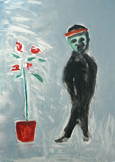 N. Scott Momaday, DEATH AS A CHILD WITH ROSE TREE Monotype