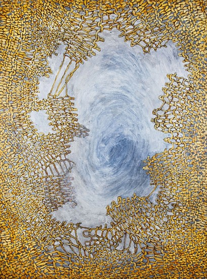 Gail Rothschild, RAPTURE (AFTER TIEPOLO) GOLD Acrylic on Canvas