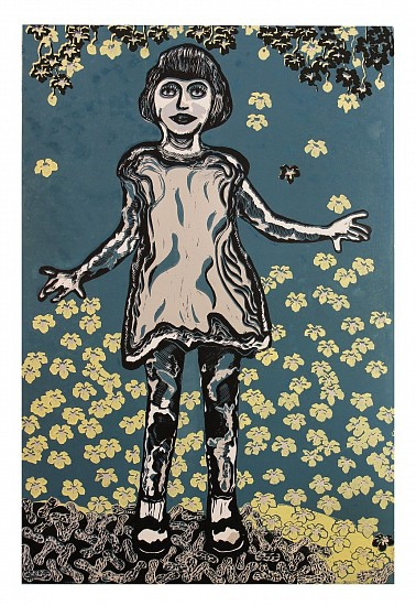 Ginna Dowling, BLUE SKY THINKING REDUCTIVE RELIEF PRINT