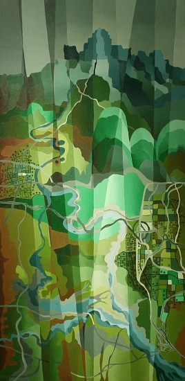 Bob Nunn, REFRACTED: VISTA VERDE 2014, Oil on Canvas