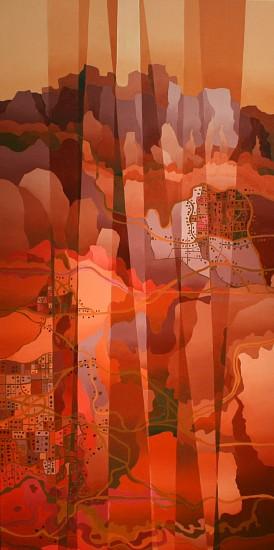Bob Nunn, REFRACTED: VISTA COLORADO 2014, Oil on Canvas
