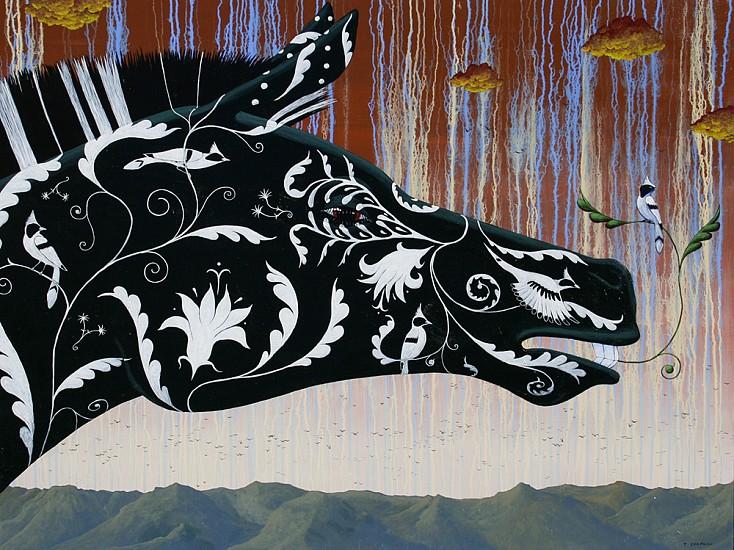 Timothy Chapman, A CURIOUS DISTURBANCE TOWARD THE EAST 2014, Acrylic on Panel