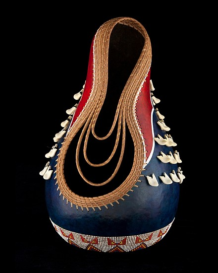 Judy Kelley, READY TO DANCE 2015, Pine Needles, Mixed Media on Gourd
