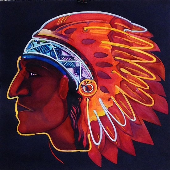 Caryl Morgan, Red Chief Oil Company 2016, Watercolor