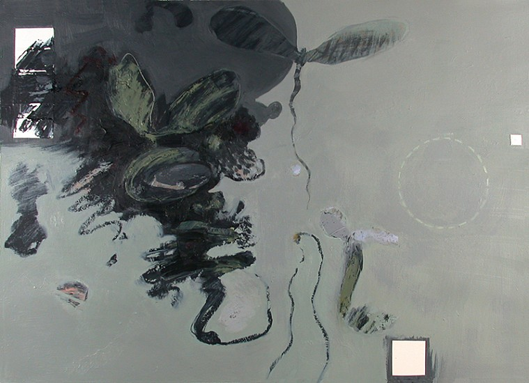 George Bogart, Evening View 2005, Oil and collage on paper