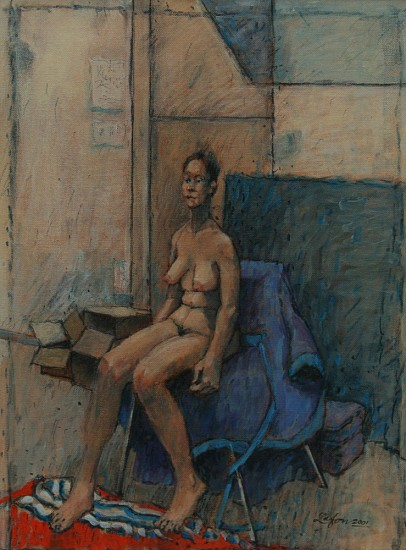 Dee J Lafon, SEATED FIGURE IN ROOM 2007