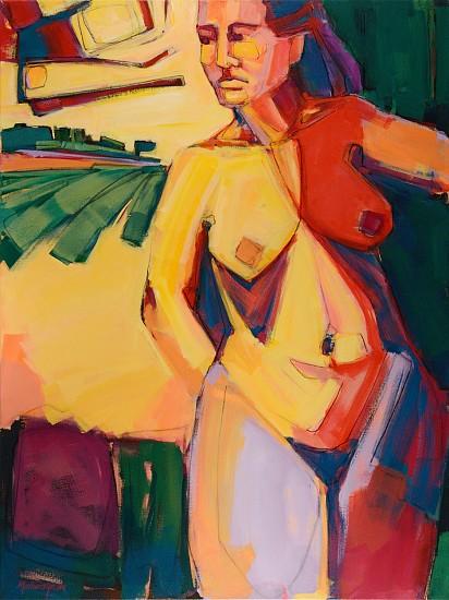 Janice Mathews-Gordon, SHESCAPE 2017, Acrylic and Charcoal