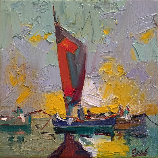 James Cobb, SPANISH BOATS 2016, Oil