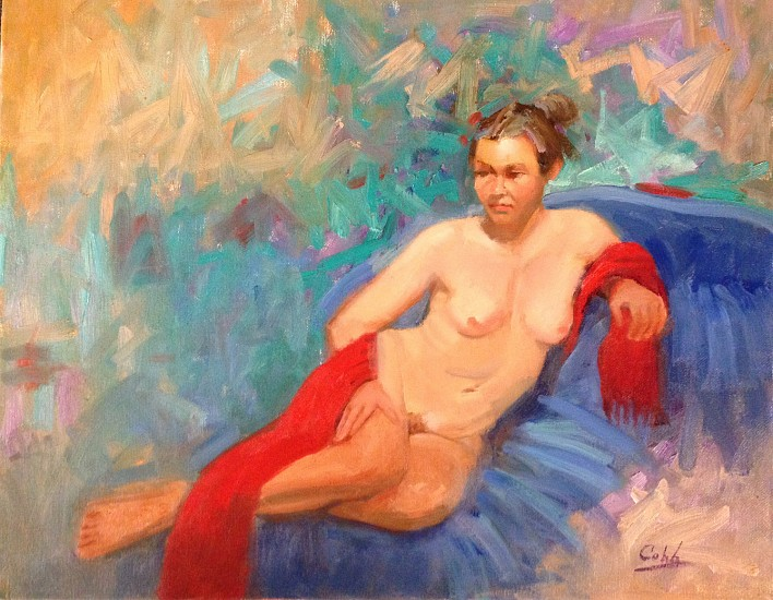 James Cobb, COLORFUL NUDE Oil
