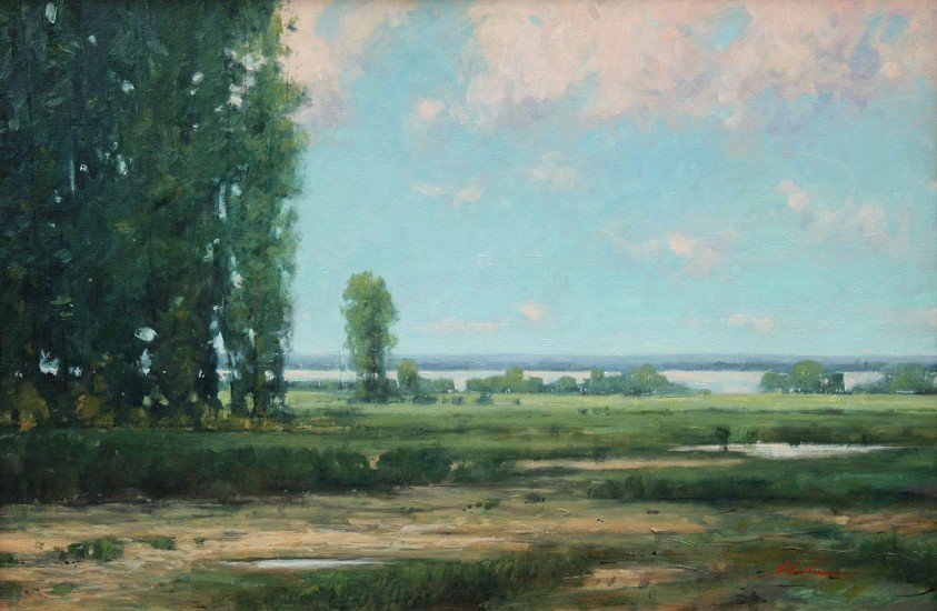 Robert Schneider, LONG VIEW Oil on Canvas