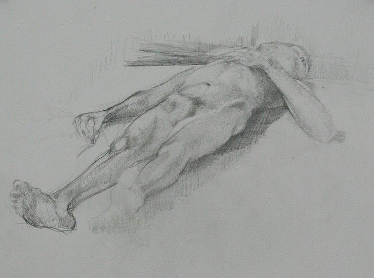 Jose Rodriguez, NUDE STUDY AFTER MANET'S BULLFIGHTER Graphite on Paper