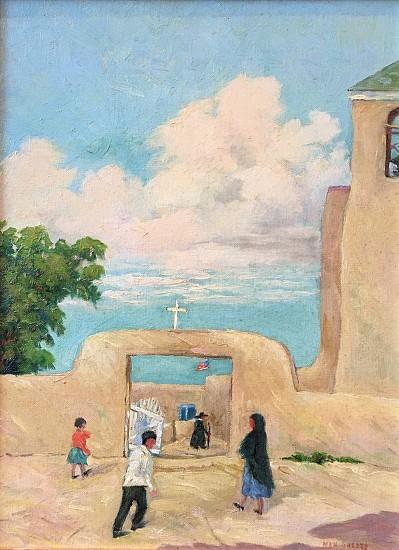 Nan Sheets, ADOBE CHURCH Oil on Canvas