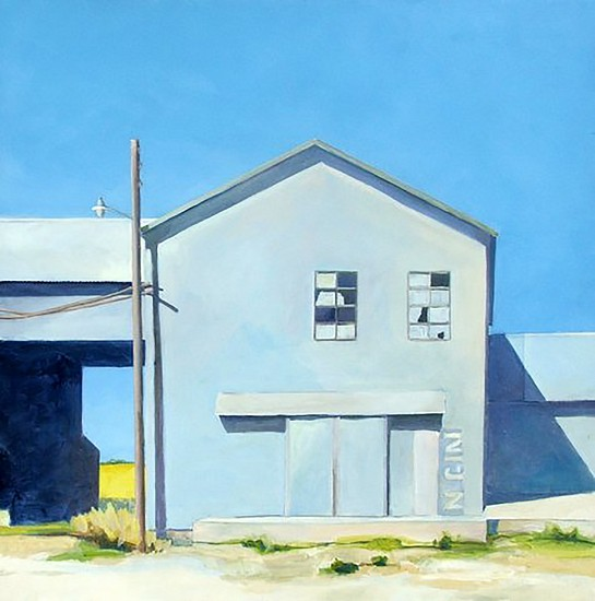 John Wolfe, DAVIDSON COOP, COTTON GIN 2017, Acrylic on Panel