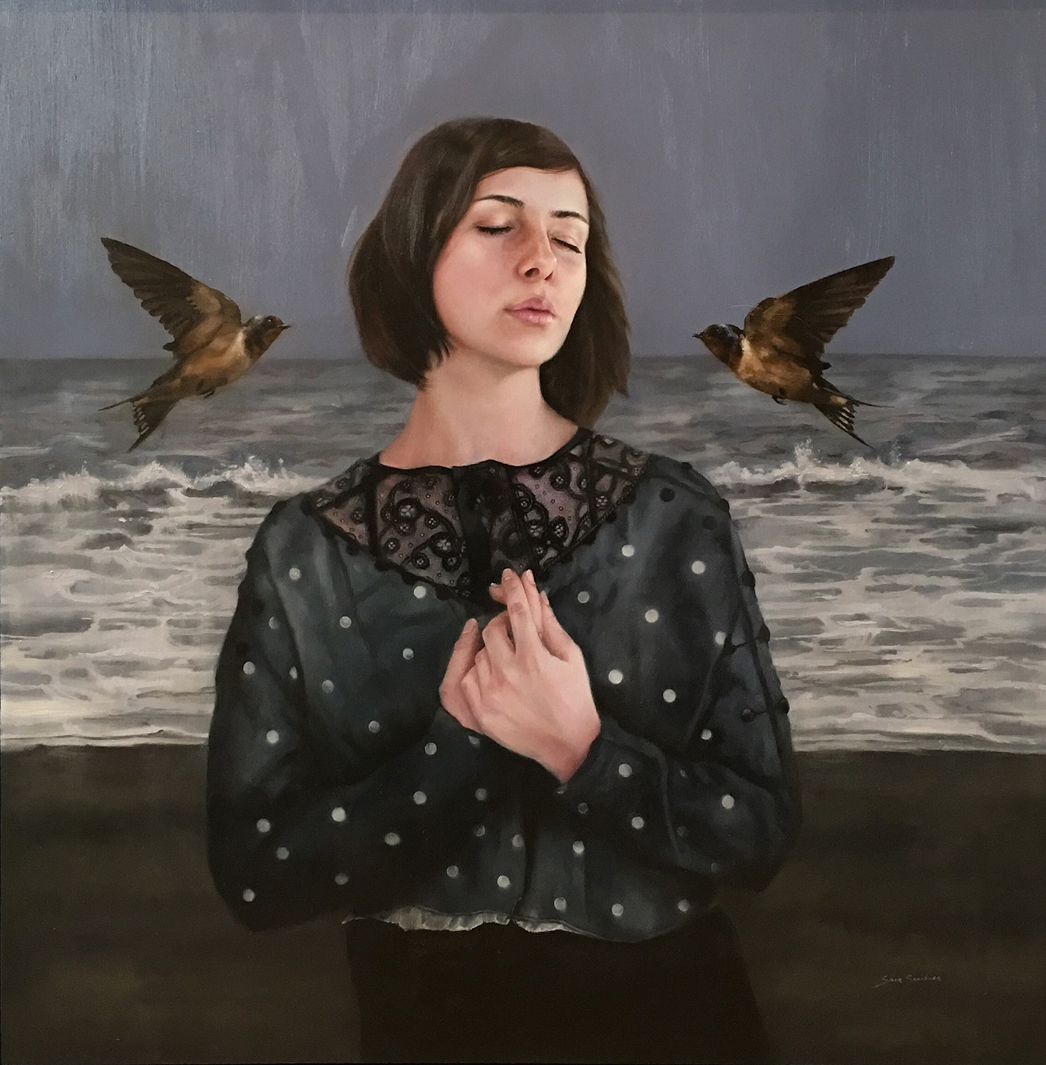 Sara Scribner, UNTITLED 2017, Oil on Panel