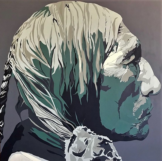 Jack Fowler, WOLF ROBE Acrylic on Canvas